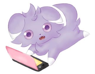 Espurr plays 3DS too! by EspurrSakura