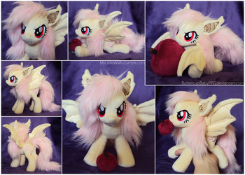 Flutterbat Beanie with Faux Fur Hair - SOLD by ButtercupBabyPPG