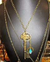 Steampunkery Necklace by wingedlight