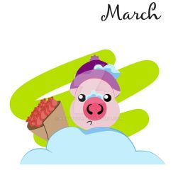 Piggy for every month in 2019 March by Krav1tzz