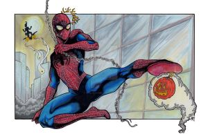 Spider-man colored by GoblinGrimm1