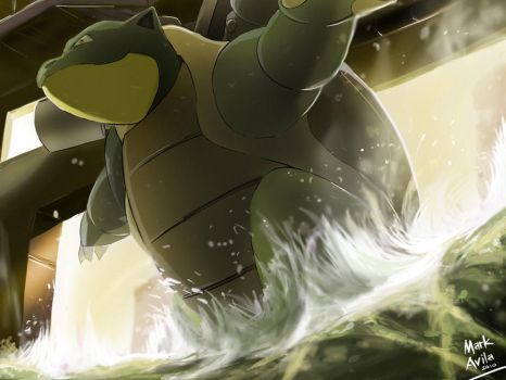 Pokemon: Blastoise by mark331