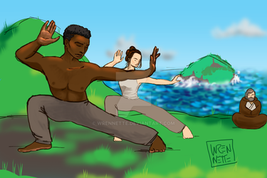 Jedi Training, Ahch-To by wrennette