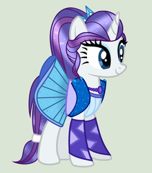 MLP Rarity Transformation Leyend of Everfree Ponif by YulianaPie26
