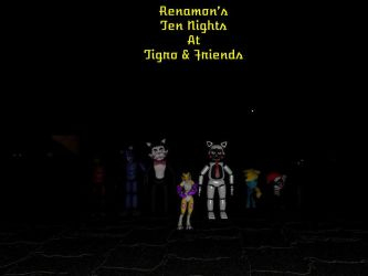 Renamon's Ten Nights at Tigro and Friends Cover by Beastthedog15