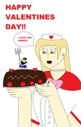 Big babe with love cake by kongo217