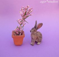 Ooak Handmade Hare Rabbit 1 12 scale dollhouse by AGZR-STUDIOS
