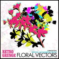Retro Grunge Floral Vectors by KeepWaiting