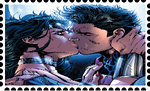 Superman and Wonder Woman Stamp by WOLFBLADE111