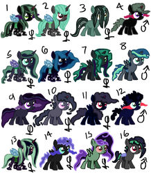 Villain Pony Shipping Adopts OPEN by Rabbidsquierrel