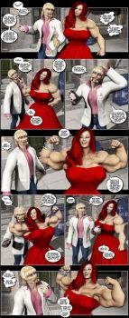 Overwhelmed by Muscle Comic 2 by Stone3D
