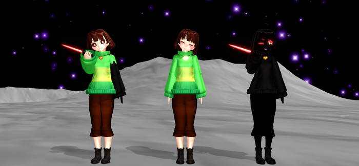 [MMD Glitchtale] Chara {DL!} by KiwiCreative24