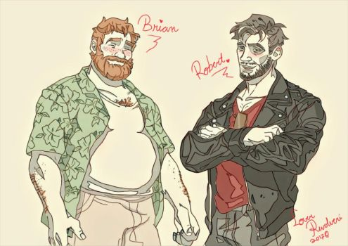 Brian and Robert by LoverRevolveri