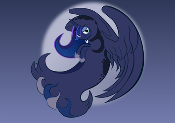 Lux Brush Vector Art: Princess Luna by Alixnight