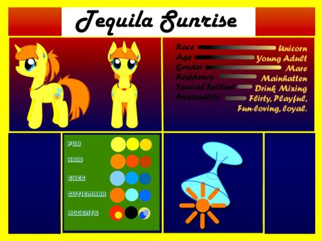 Tequila Sunrise the Unicorn by VertAyara