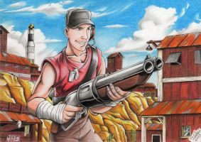 Team Fortress 2 - Scout by Tadeu-Costa