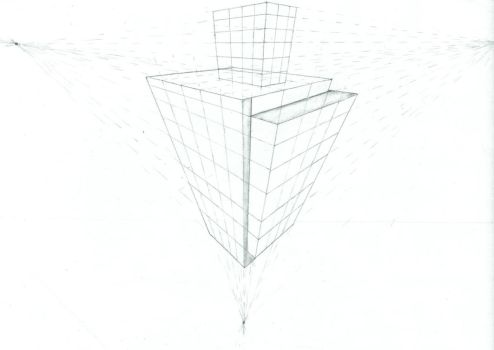 3 Point Perspective Building by papermario13689