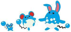 Azurill, Marill and Azumarill Base