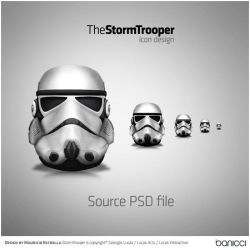StormTrooper Icon - PSD file by mauricioestrella