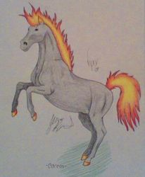 Fiery horsey by MalAmour