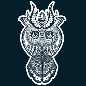 Patterned Owl by blo0p