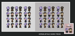 Anabel and Looker BW Sprites by Vergolophus