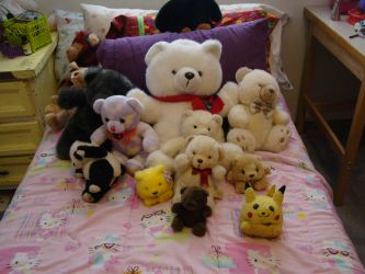 a ton of teddy bears by Purified-By-You