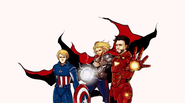 Avengers - we're in this together by lambchild