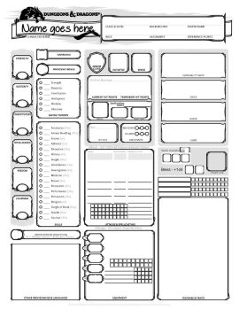 DnD 5E CharacterSheet - blank ver 2 by DragonKinfolk