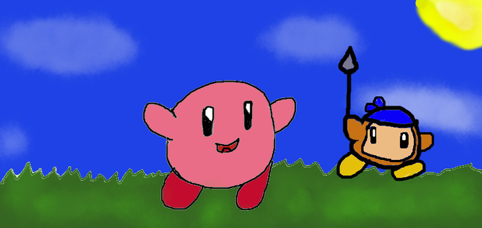 Kirby and Waddle Dee by Venasaur12