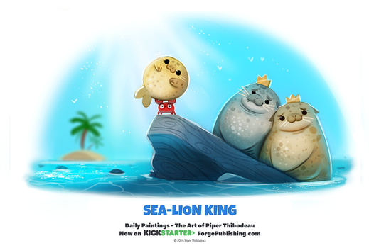 Daily 1320. Sea-Lion King by Cryptid-Creations