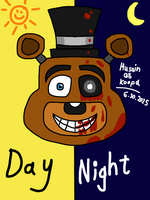 Freddy Fazbear Pizza day and night by HuswserStar