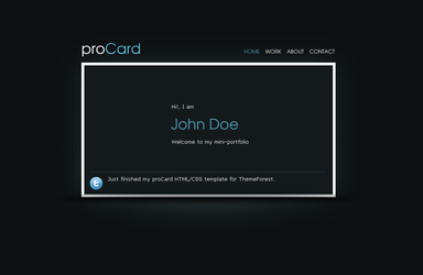 proCard HTML-CSS Template by rjoshicool