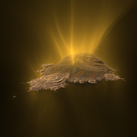 Golden Mandelbrot by cab1n