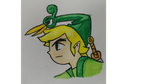 Water Color Pencil Toon Link by Redtailed22