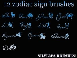 Zodiac brushes by OMFGman
