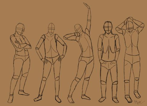 Standing poses by TastyOranges