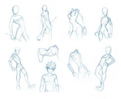 Pose Studies 5 - Fitting anatomy to your mannequin by Brant-Bi