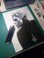 A Nameless Ghoul from the band Ghost by KissaKawaguichi
