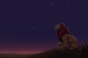 Mufasa and Simba by tigon
