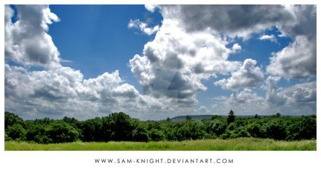 Cloud Covered Skyline by sam-knight