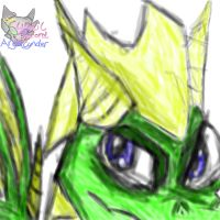 Sparrow the Green Dragon by AngelCnderDream14