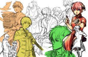 Gintama Doodles by evanescent-adoration
