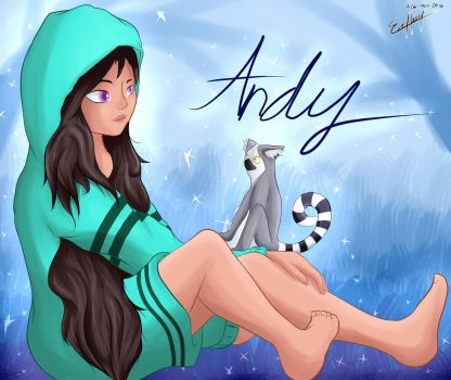 Art Trade - Andy and her Lemur by Evan-Harrey