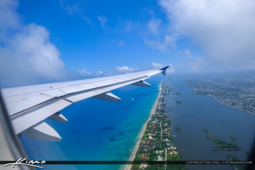 Airplane-Wing-Take-Off-Over-West-Palm-Beach-Blue-W by CaptainKimo
