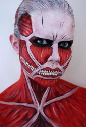 Face painting - Colossal Titan + Tutorial by larahawker