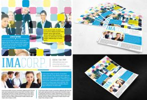 FREE PSD FLYER - Colorful Corporate Flyer by dianaghiba