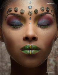 Tribal Princess for 7hues Mag by MadSDesignz