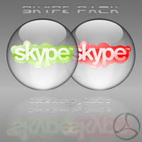 Silver Aqua Skype Icon by rontz