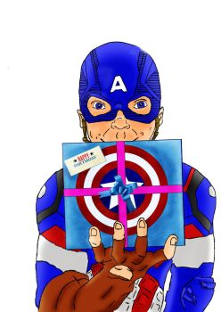 Captain America drawing by frantic0466
